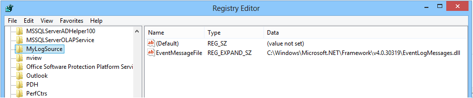 RegistryViewer-EventLogSource